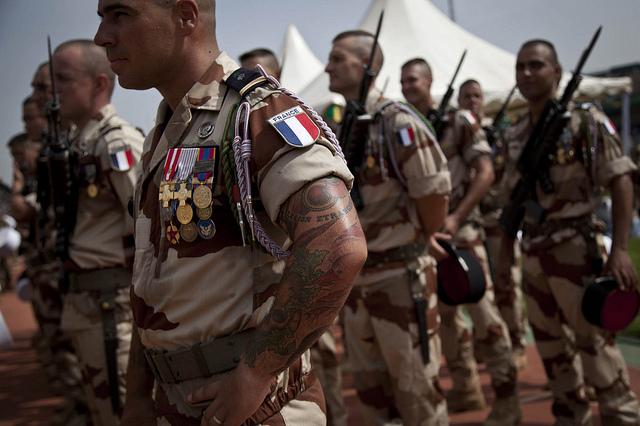 "Franska soldater i operation ""Serval"". Foto: MINUSMA/Marco Dormino"