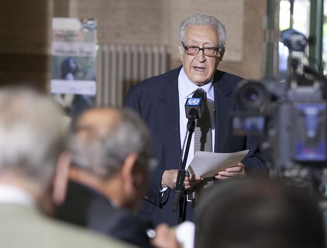 FN:s specielle sändebud till Syrien, Lakhdar Brahimi. Foto: US Mission Geneva