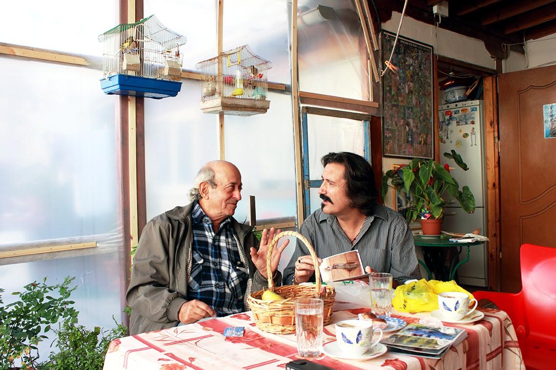 Hotellägarna Alexandros Stoupas och Bulent Ulucan har hittat vänskap över gränserna. Foto: Erika Ladenberg